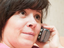 Telephone conversation Stock Images