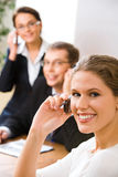 Telephone conversation Stock Image