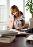 Telephone conversation Royalty Free Stock Images