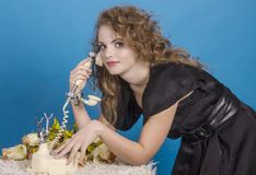 The telephone conversation. Stock Photos