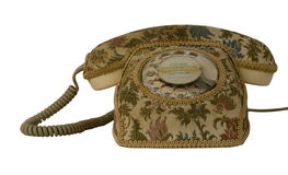 Telephone with cover Stock Photos