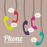 Telephone design. Over beige background, vector illustration Royalty Free Stock Photography