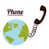 Telephone design Royalty Free Stock Photo