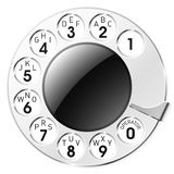 Telephone dial. Vector illustration of a telephone dial Stock Photography