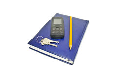 Telephone and diary Royalty Free Stock Images