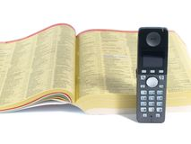 Telephone directory. Modern phone and telephone directory Royalty Free Stock Photography