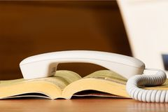 Telephone directory. Yellow pages yellow page telephone business connection Royalty Free Stock Photos
