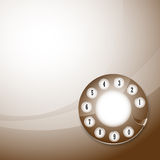 Telephone disk background Royalty Free Stock Photography