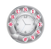 Telephone Disk Business And Clock Royalty Free Stock Photos