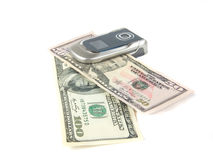 Telephone and dollars Royalty Free Stock Image