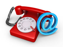 Telephone and e-mail symbol Royalty Free Stock Photography