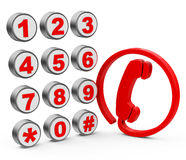 Telephone elements. 3d generated picture of a telephone concept royalty free illustration