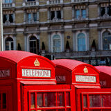 telephone in england london obsolete box classic british icon Royalty Free Stock Images
