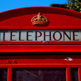 telephone in england      london obsolete box classic Royalty Free Stock Photos