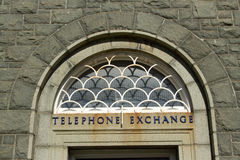 Telephone exchange. Royalty Free Stock Image