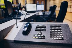 Telephone exchange in control room Stock Photography