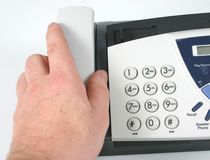 Telephone/Fax touchpad. Close-up of typical telephone/fax touchpad royalty free stock photos