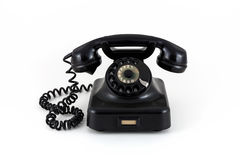 Telephone from the fifties. On a white background stock photos