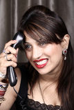 Telephone frustration Stock Photo