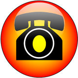 Telephone Glass Web Button Royalty Free Stock Photo