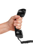 Telephone in hand Stock Photography