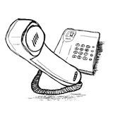 Telephone  Hand drawing  sketch Royalty Free Stock Image