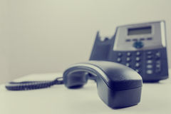 Telephone handset Stock Photos