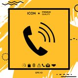 Telephone handset, telephone receiver icon. Element for your design Royalty Free Stock Image