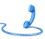 Telephone handset on white. Background Stock Image