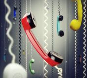 Telephone handsets Stock Photos