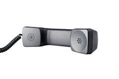 Telephone Hanset. Old Black Telephone Handset Isolated On White Background Royalty Free Stock Image