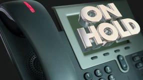 Telephone On Hold Waiting Bad Customer Service. 3d Illustration royalty free illustration