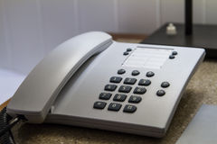 Telephone in Hotel Room Stock Image