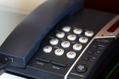 Telephone in Hotel Room Stock Images