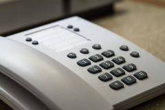 Telephone in Hotel Room Stock Image