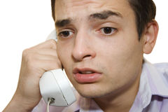 By telephone I. A businessman calling by  telephone Royalty Free Stock Photo