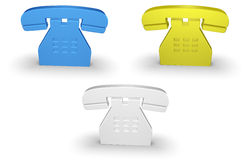 Telephone icon Stock Photography