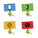 Telephone icon  art color Royalty Free Stock Images
