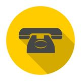Telephone icon, vector illustration with long shadow Stock Images