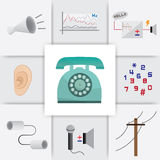 Telephone icon Royalty Free Stock Image