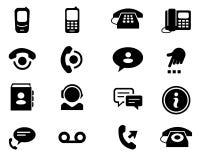 Telephone icons Stock Photography