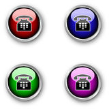 Telephone icons Royalty Free Stock Photos