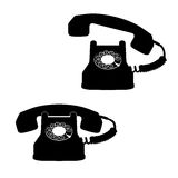 Telephone icons against white Royalty Free Stock Image