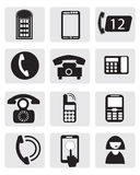 Telephone icons Royalty Free Stock Photo