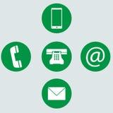 Telephone icons Stock Photos
