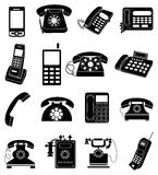 Telephone icons set Stock Photo