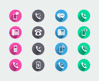 Telephone icons Stock Photos