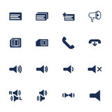 Telephone icons Stock Photography