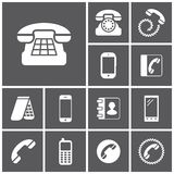 Telephone icons Stock Images