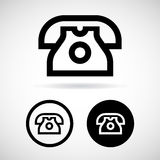 Telephone icons set great for any use. Vector EPS10. Stock Images
